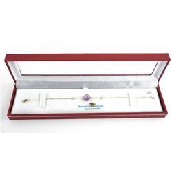 Ladies 14kt Gold Fancy Bracelet 2.76ct Bezel Set N