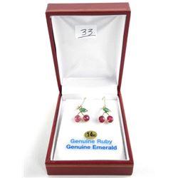 BB33 Ladies 14kt Gold Earrings Lever Backs, 3.86ct