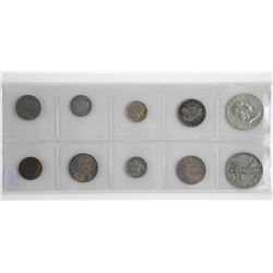 Lot (10) USA Coins Early Years - Silver