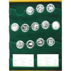 Festivals - 12 Coin Set, 925 Sterling Silver Bank