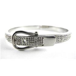 925 Silver Bangle Bracelet with Swarovski Elements