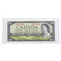 Bank of Canada 1954 Twenty Dollar Note. B/R (GR)
