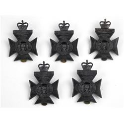 Lot (5) The Regina Rifle Regt. Queen's Crown Cap B