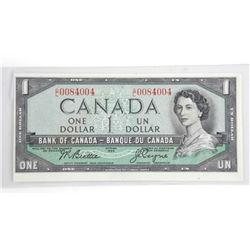 Bank of Canada 1954 One Dollar Note UNC B/C (KR)