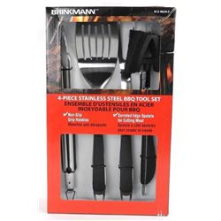 Brinkmann 4pc Stainless Steel BBQ Tool Set Non Sli