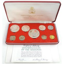 1974 Bahamas Silver Proof Set.
