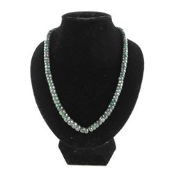 "Estate - Emerald Bead 17"" Necklace"