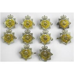 Lot (10) Pre 1968 RCASC Cap Badges