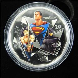 .9999 Fine Silver $20.00 Coin 'BATMAN V SUPERMAN'