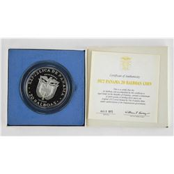 1972 Republic of Panama 20 Balboas Proof Coin