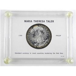 Maria Theresa Thaler 1780X Proof Restrike Cased