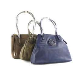Grouping (3) Carlo G Handbags