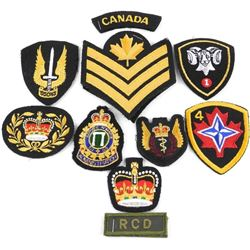 Lot (10) Mixed Canadian Military Cloth Insignias