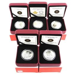 Group (5) RCM .9999 Fine Silver $10.00 Coins OH CA