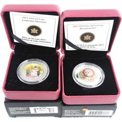 Lot (2) Royal Canadian Mint Coins - Lenticular Snowman and Dreamcatcher