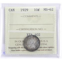 (VAL18) Canada 1929 10 Cent MS-62. ICCS. (SOR)