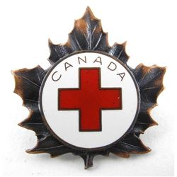 KOREAN WAR Era Canadian Red Cross Society Hat Badg