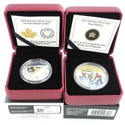 Lot (2) .9999 Fine Silver $20.00 and $10.00 Coins