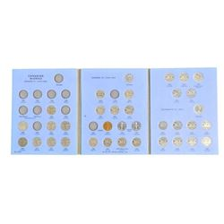 Partial Estate blue Coin Book Canada 5 Cents