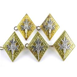 Lot (5) CWAC Cap Badges