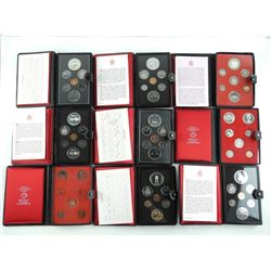 Grouping of (9) RCM Prestige Coin Sets 1971-1979