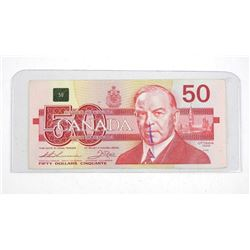 Bank of Canada 1988 Fifty Dollar Note. (EHX) Bird Series