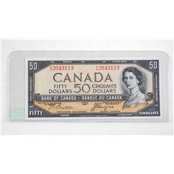 Bank of Canada 1954 Fifty Dollar Note. Devil's Face.