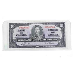 Bank of Canada 1937 Ten Dollar Note. G/T