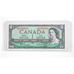 Bank of Canada 1954 One Dollar Note *Replacement B/M