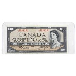 Bank of Canada 1954 One Hundred Dollar Note. B/C