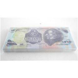Banco Central Del Uruguay Brick (100) N50.00 In Sequence