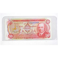 Bank of Canada 1975 Fifty Dollar Note. RCMP Formation