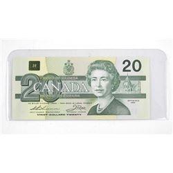 Bank of Canada 1991 Twenty Dollar Note. (AIX) No Series
