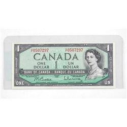Bank of Canada 1954 One Dollar Note (HF)