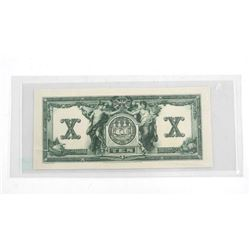 Bank of Commerce Engraver/Printers Proof Back of Ten Dollar Note. Scarce