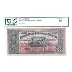 Newfoundland Government Cash Note VF25 PCGS