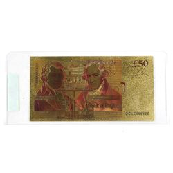 Bank of England 24kt Gold Leaf Fifty Pounds