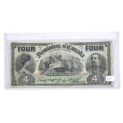 Dominion of Canada 1902 Four Dollar Note F-15