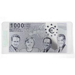 .999 Fine Silver Leaf 1000 Euro Note