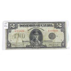 Dominion of Canada 1924 2.00 Fine