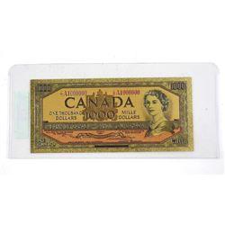 24kt Gold Leaf Bank of Canada 1000.00 1954