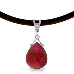 Genuine 8.01 ctw Ruby & Diamond Necklace Jewelry 14KT White Gold - REF-59N9R