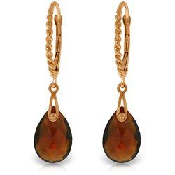 Genuine 6 ctw Garnet Earrings Jewelry 14KT Rose Gold - REF-30F6Z