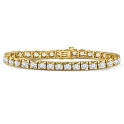 5.15 CTW Diamond Bracelets 14KT Yellow Gold - REF-951H2W
