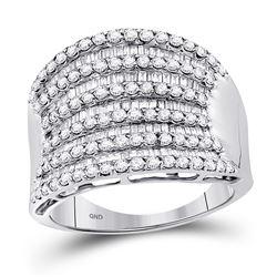 1.6 CTW Diamond Fashion Ring 14KT White Gold - REF-112K5W