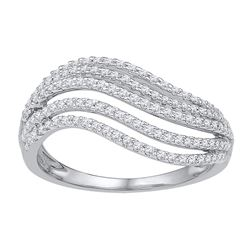 0.50 CTW Diamond Ring 10KT White Gold - REF-40H4M
