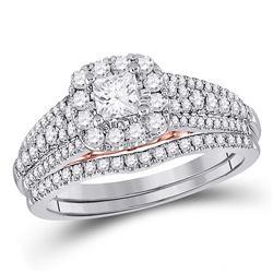 1.04 CTW Diamond Ring 14KT 2Tone Gold - REF-192Y3N