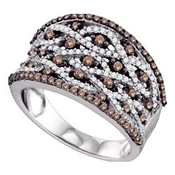 0.99 CTW Cognac-brown Color Diamond Fashion Ring 10KT White Gold - REF-67Y4X