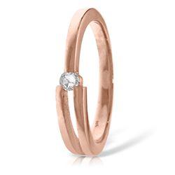 Genuine 0.10 ctw Diamond Anniversary Ring Jewelry 14KT Rose Gold - REF-54P9H