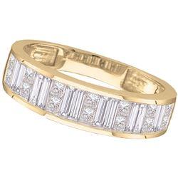 0.50 CTW Princess Diamond Wedding Ring 14KT Yellow Gold - REF-49X5Y